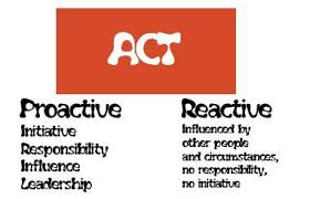 Benefits of being proactive rather than reactive